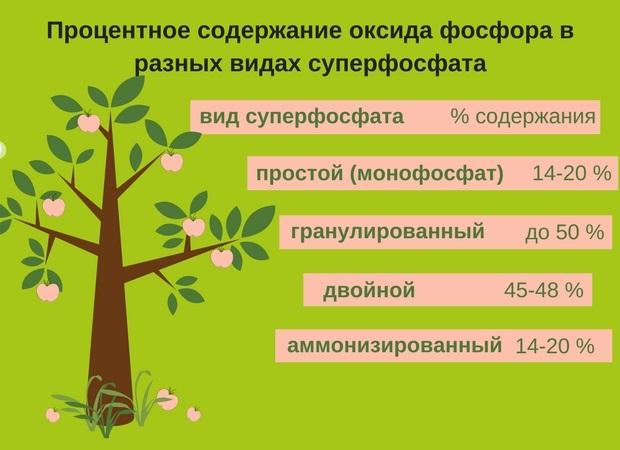 Процентное содержание оксида фосфора