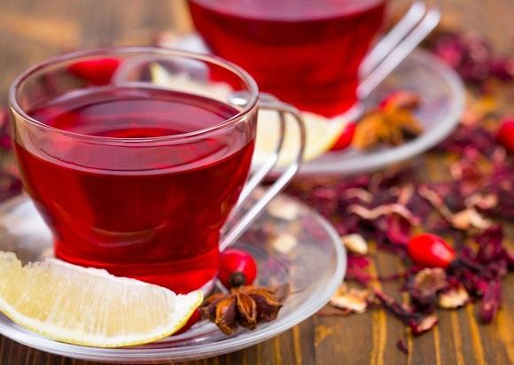 Чай с лепестками сирийской розы