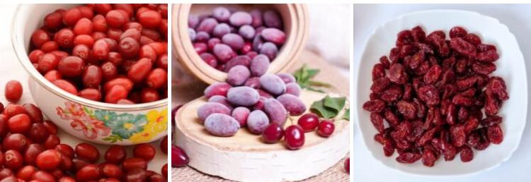 свежие ягоды и замороженные